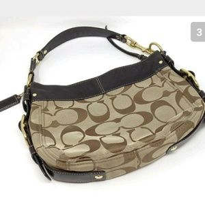 Coach Zoe Hobo Handbag Large C Signature